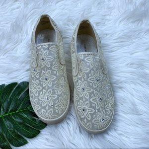 Stuart Weitzman Shoes - Stuart Wietzman | Crystal Floral Flats